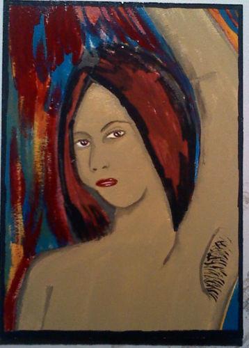 Armpit Hair Original 5x7 Acrylic Painting Outsider Art The Art Of