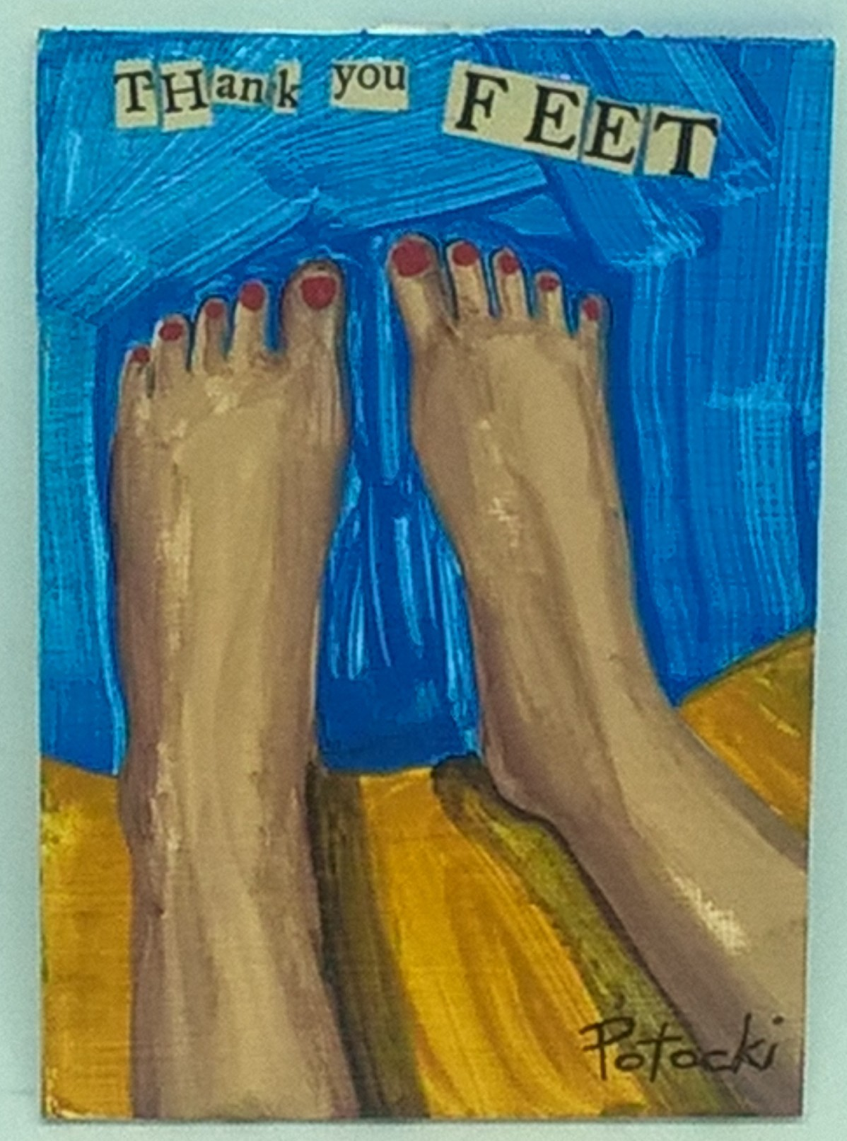 feet art, thank you feet